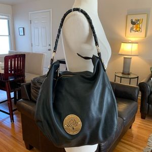 Mulberry Daria black leather hobo bag hard to find